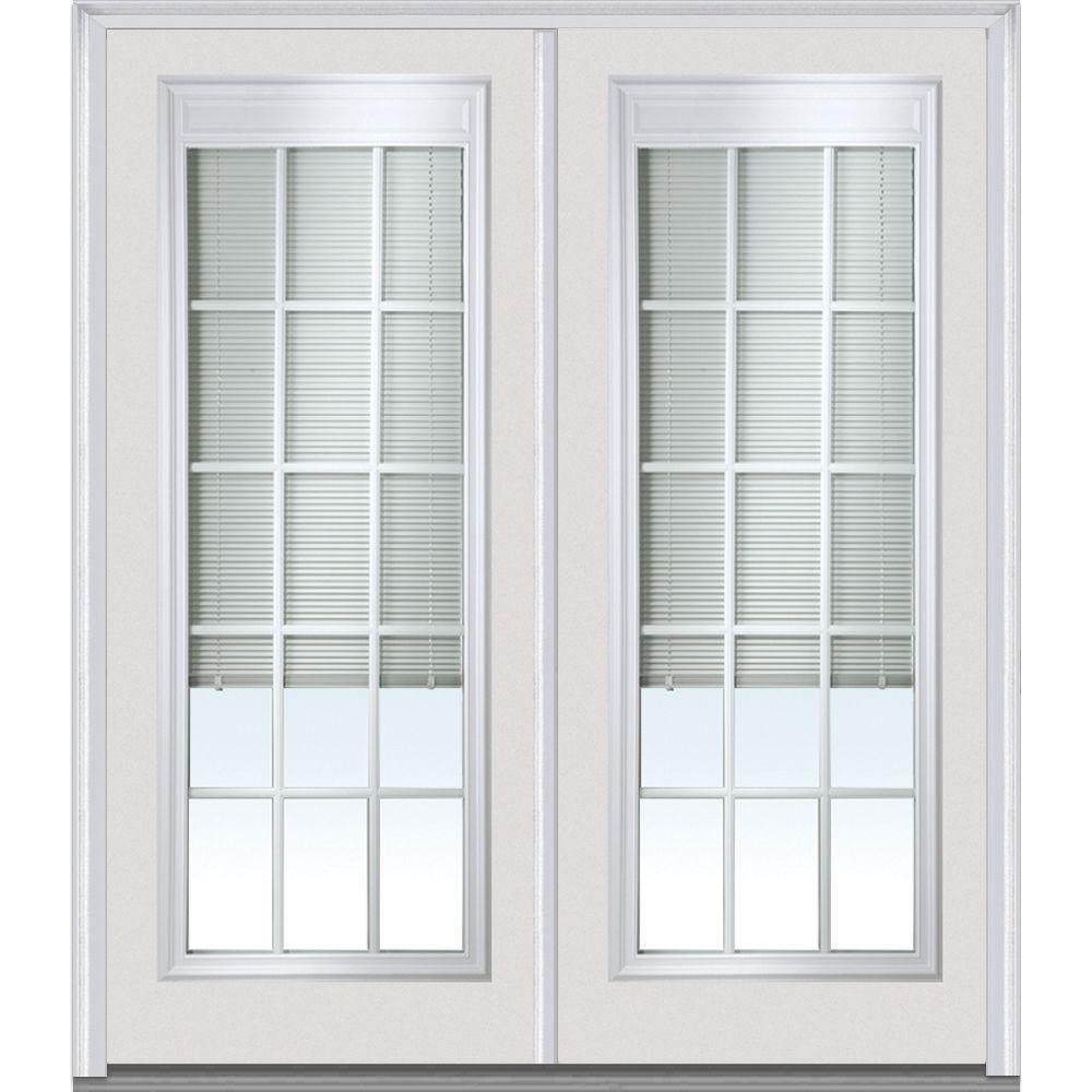 Mmi Door 72 In X 80 In Internal Blinds And Grilles Right