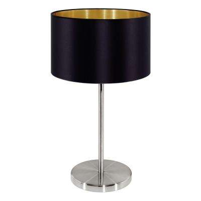 Maserlo 16 in. Matte Nickel Table Lamp