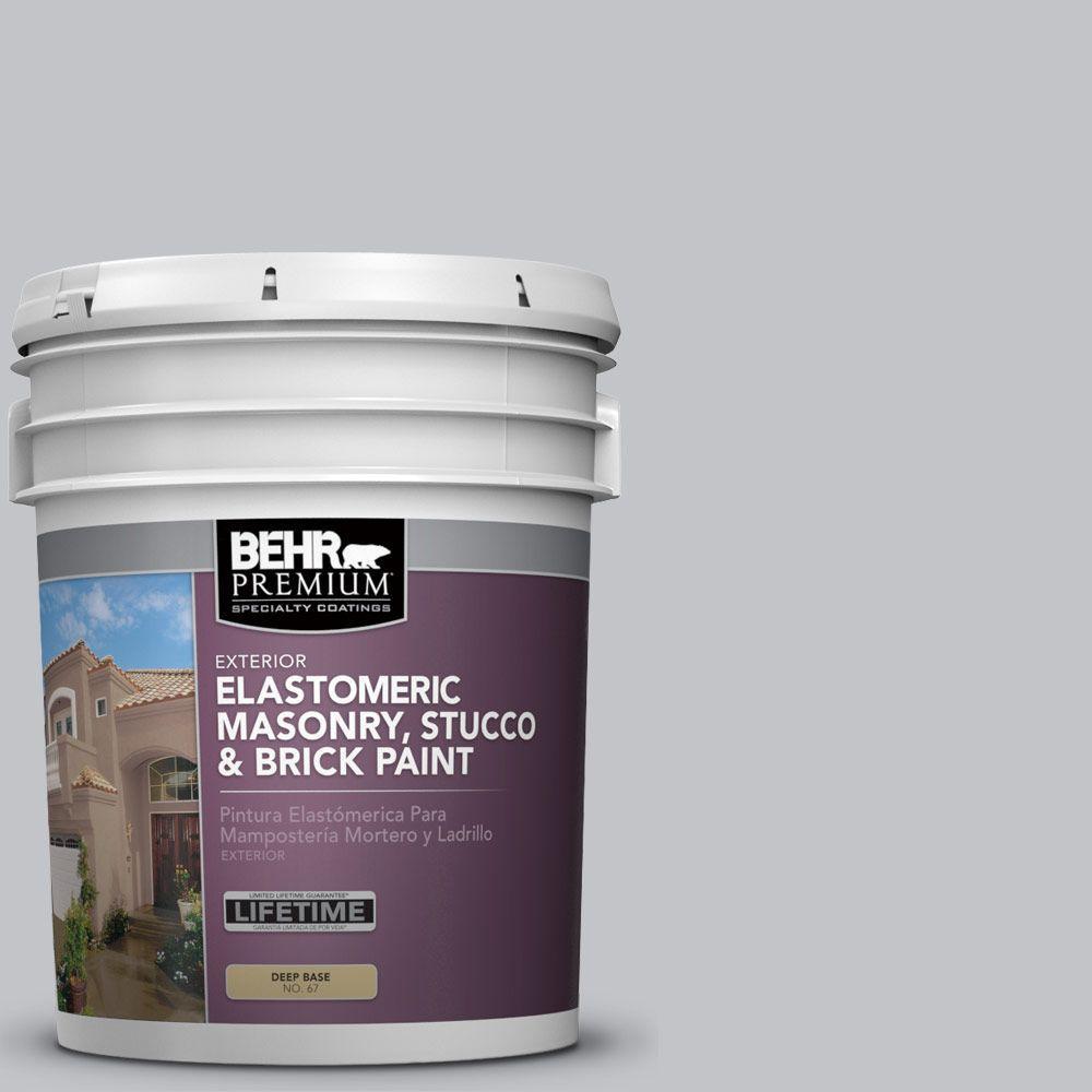 5 gal. #MS-75 Blue Gray Sky Elastomeric Masonry, Stucco and Brick Exterior Paint
