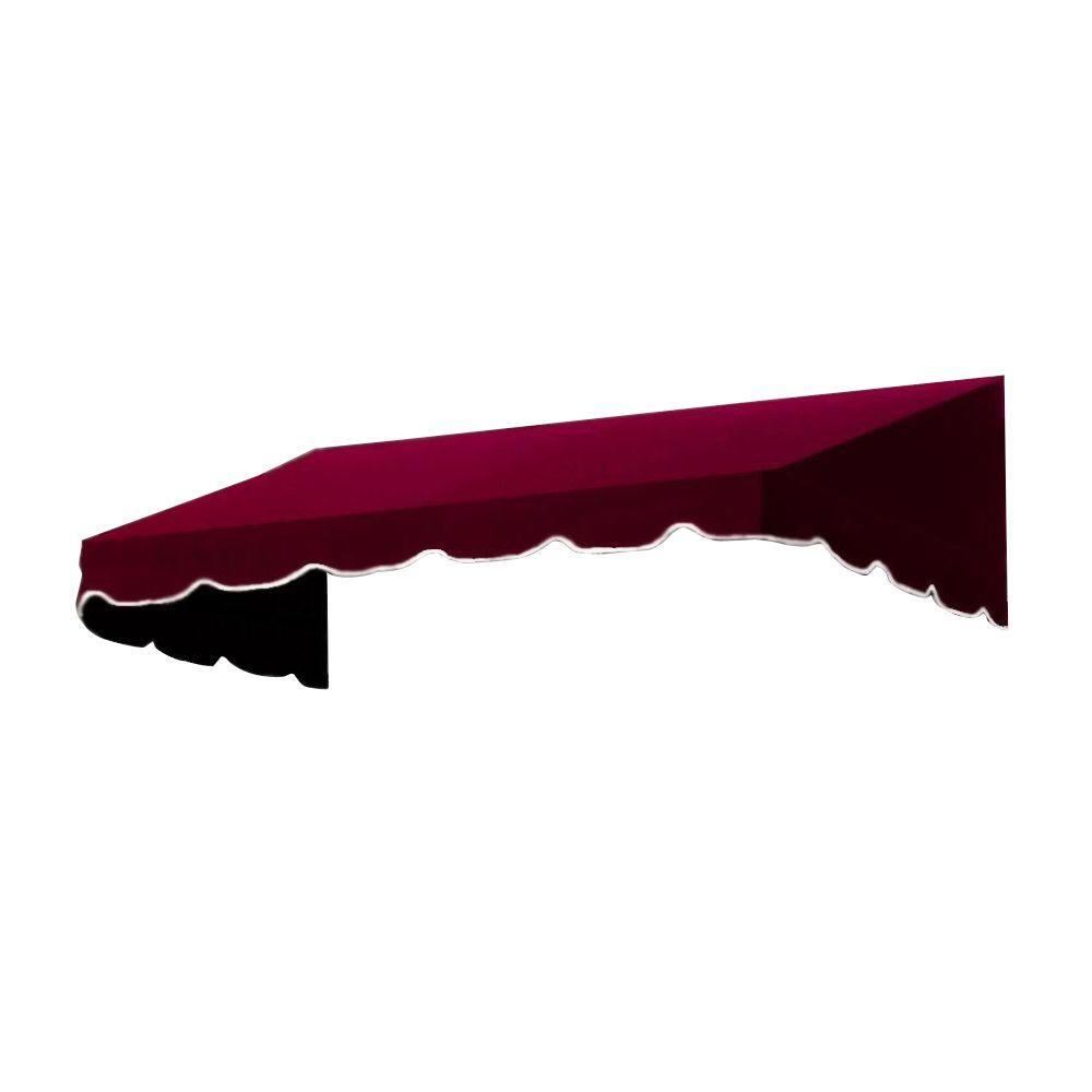 AWNTECH 4 ft. San Francisco Window/Entry Awning (24 in. H x 42 in. D) in Burgundy