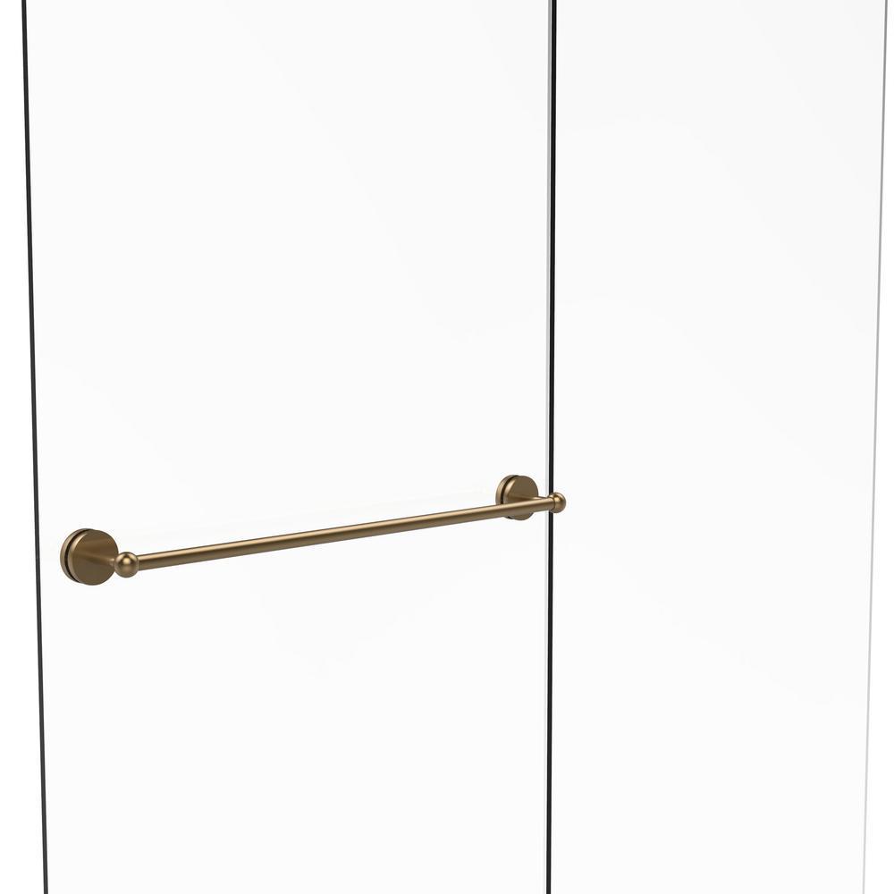 Allied Brass Prestige Skyline Collection 30 in. Shower Door Towel Bar in Brushed Bronze