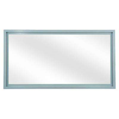 Everhart 60 in. W x 31 in. H Framed Wall Mirror in Washed Grey