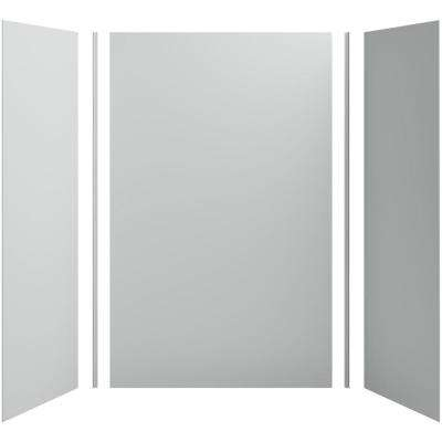 Choreograph 60in. X 32 in. x 96 in. 5-Piece Shower Wall Surround in Ice Grey for 96 in. Showers