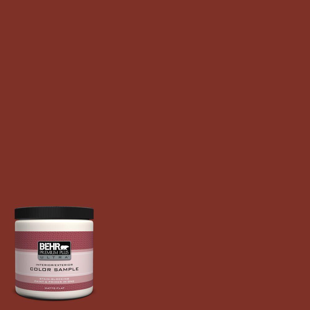 BEHR Premium Plus Ultra 8 oz. #ECC-46-3 Red Hawk Interior/Exterior Paint Sample