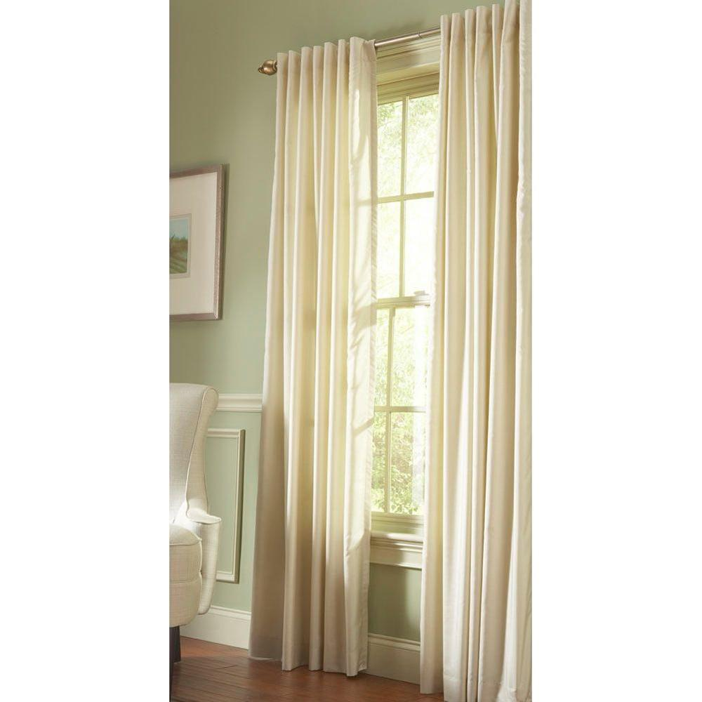 Martha Stewart Living Semi-Opaque Hemp Faux Silk Back Tab Curtain