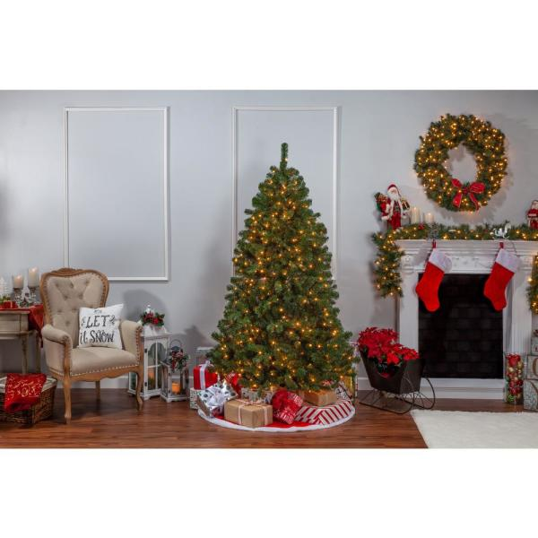 Sterling 7 Ft Pre Lit Montana Pine Artificial Christmas Tree With Clear Lights 5759 70c The Home Depot