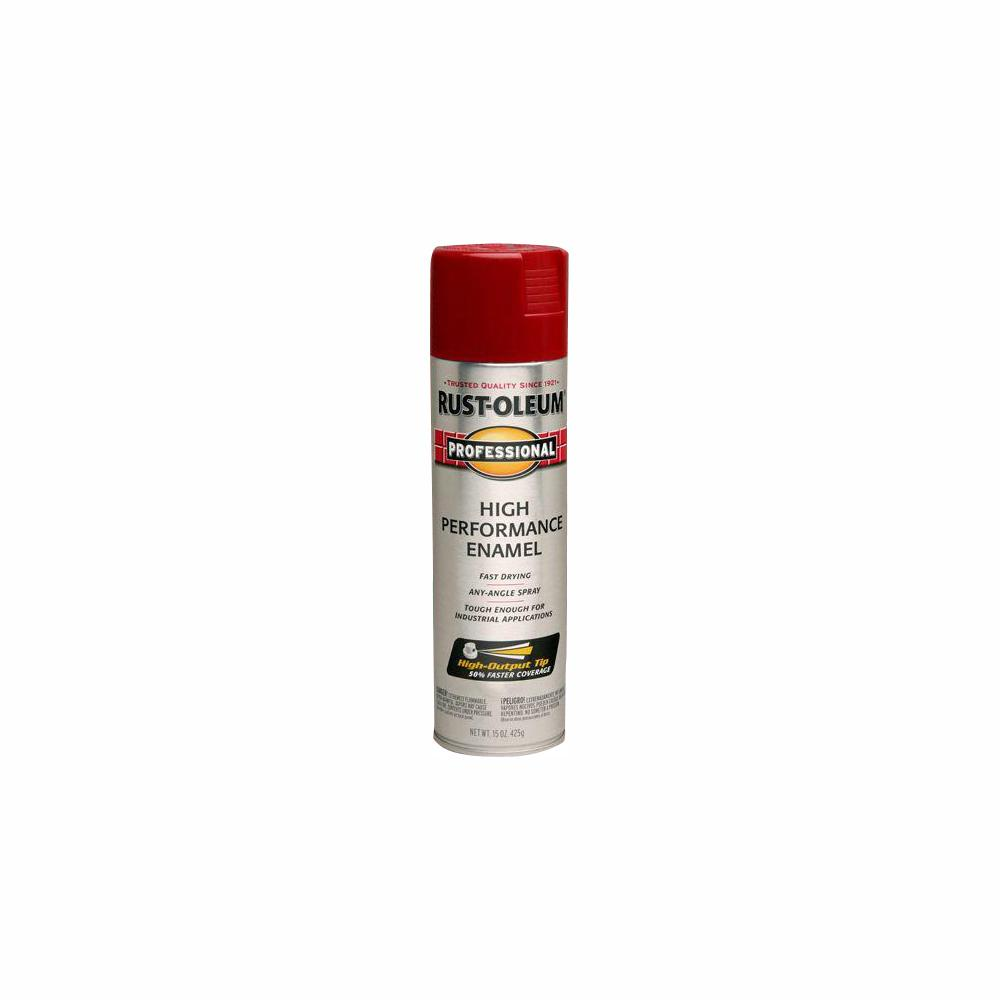 Rust Oleum Professional 15 Oz High Performance Enamel Gloss Regal Red Spray Paint 6 Pack 7565838 The Home Depot