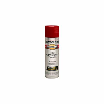 Rust Oleum Professional 15 Oz High Performance Enamel Gloss Safety Orange Spray Paint 6 Pack 7555838 The Home Depot