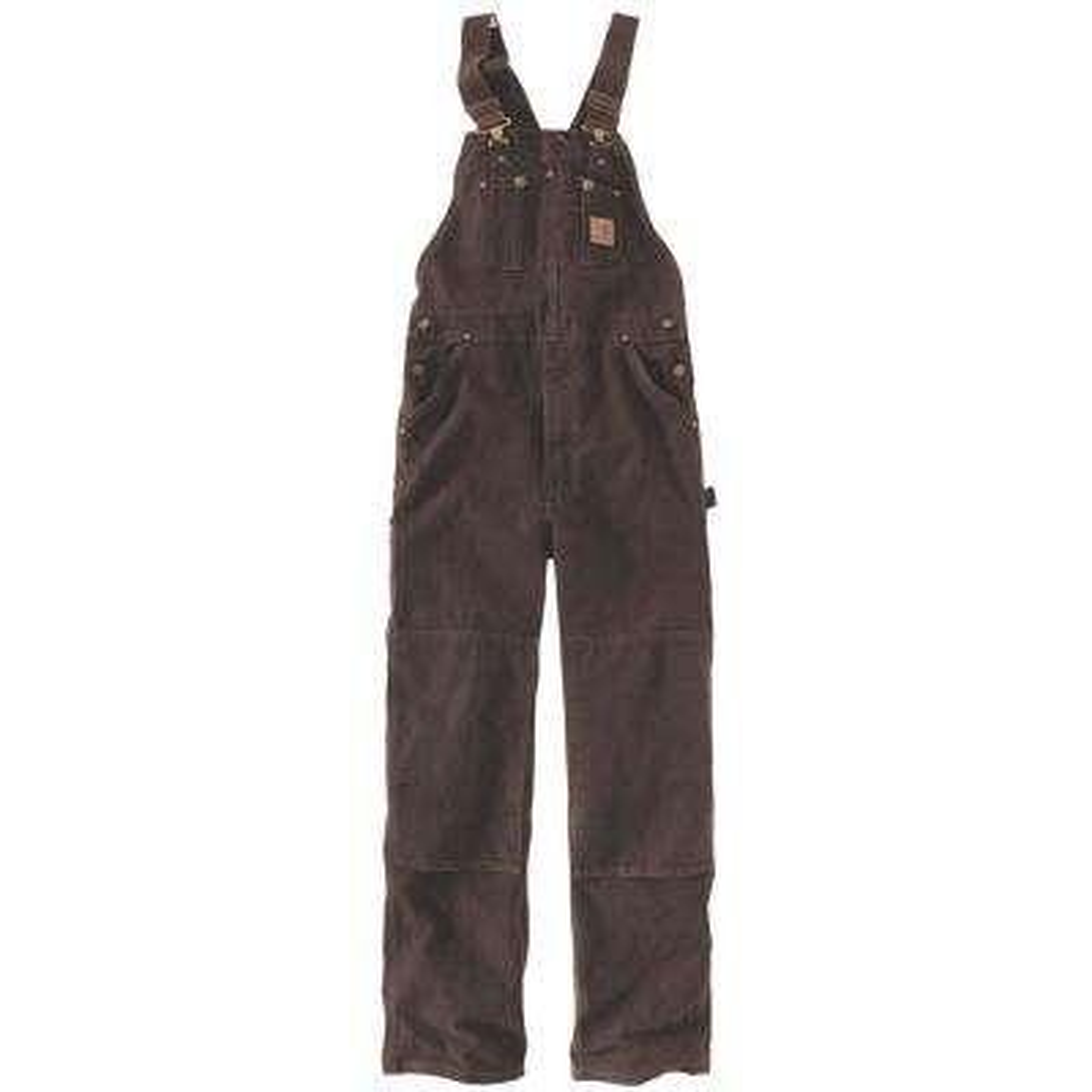 Men's 50x30 Dark Brown Cotton  Bib Overalls