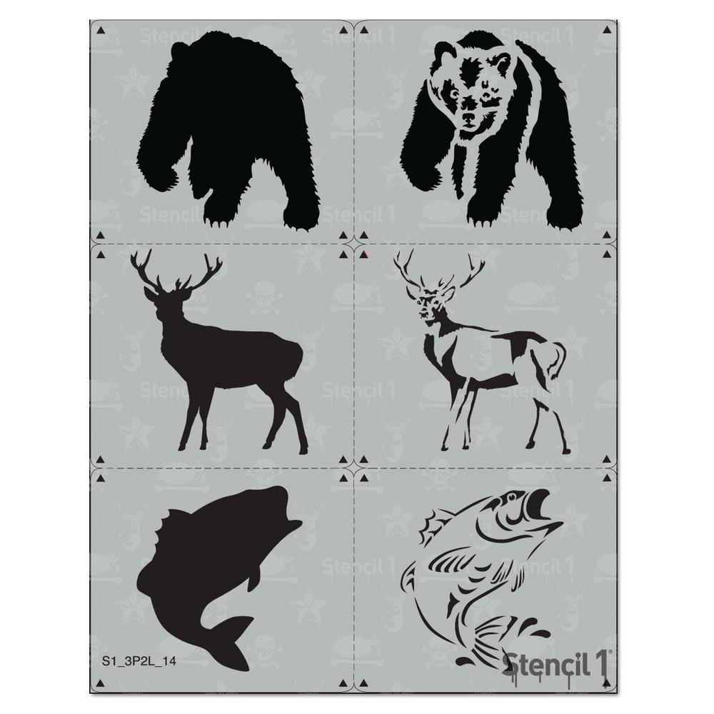 Outdoor Animals Stencil (3-Pack)