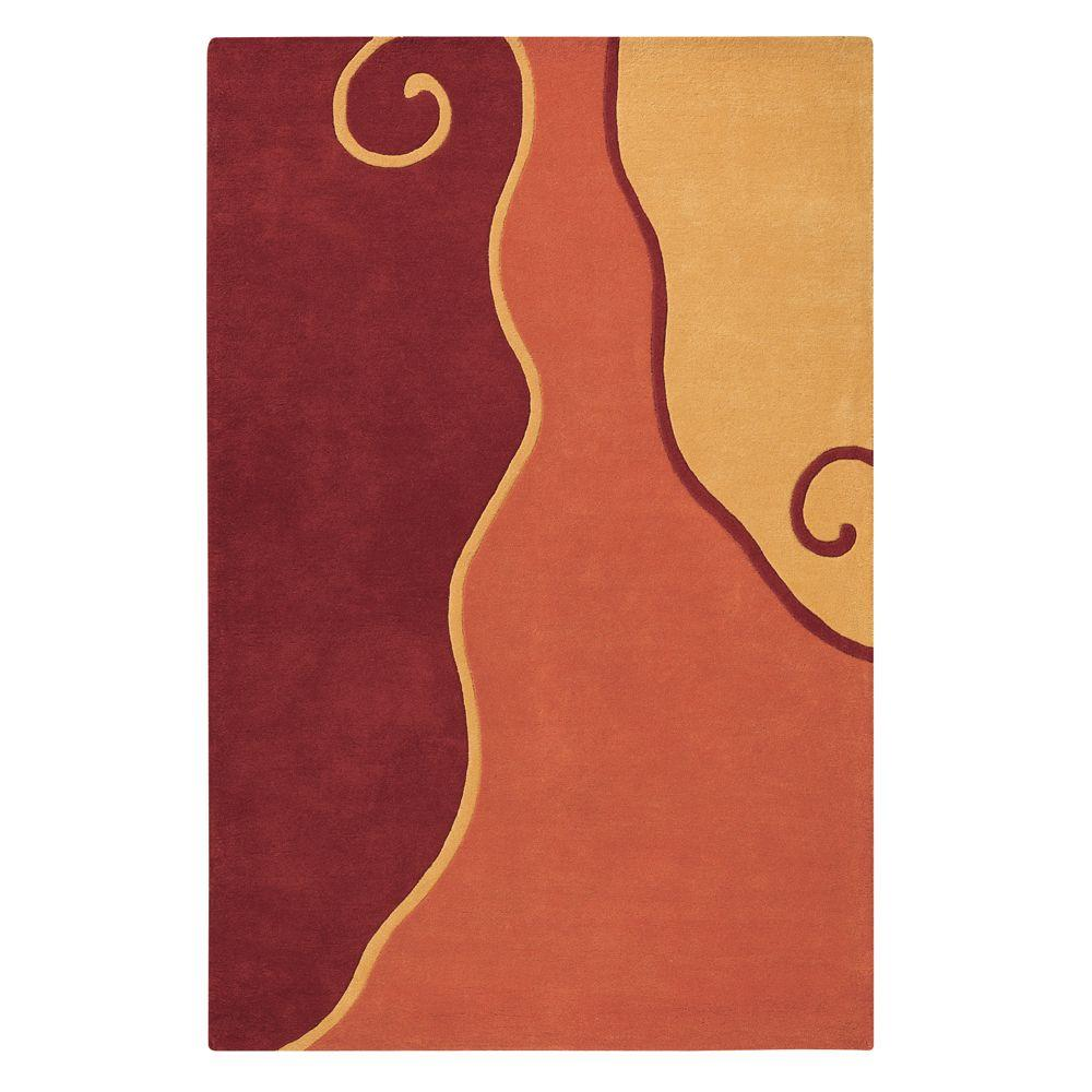 Home Decorators Collection Divani Red/Multi 2 ft. 6 in. x 4 ft. 6 in. Accent Rug