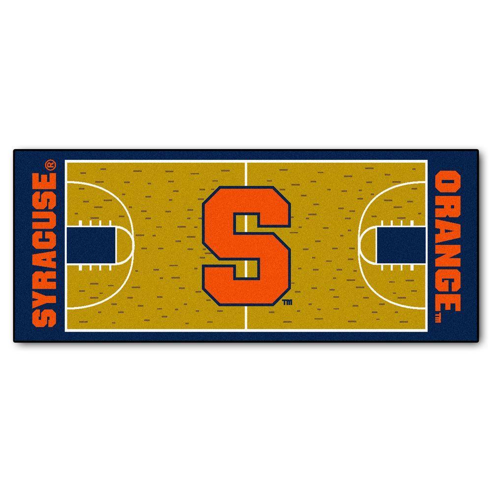 Fanmats Syracuse University 3 Ft X 6 Ft Basketball Court Runner