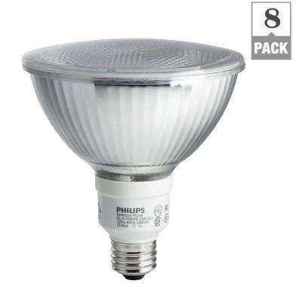 90W Equivalent Soft White (2700K) PAR38 CFL Light Bulb (8-Pack)