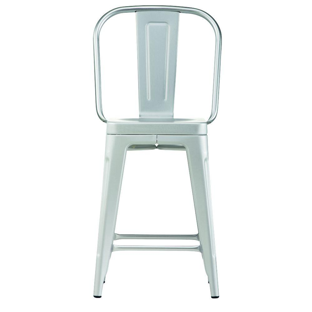 Home decorators collection garden 24 in brushed aluminum bar stool