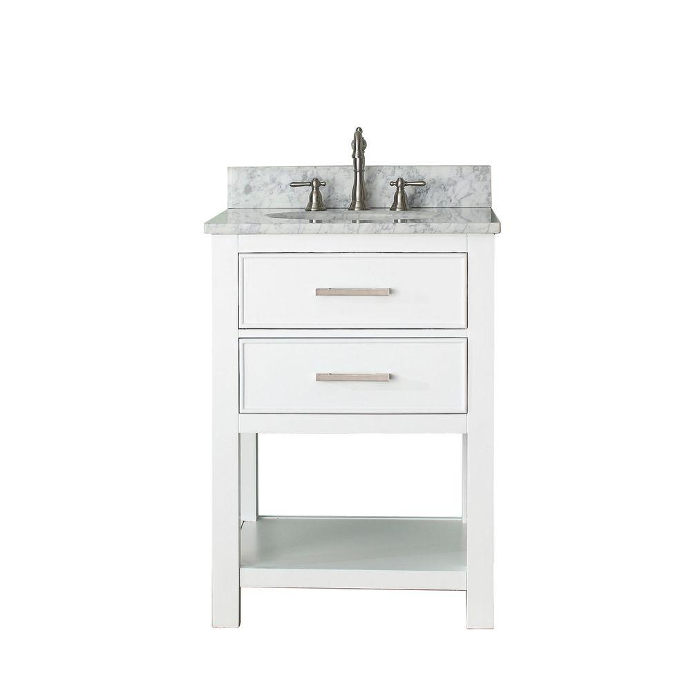 Kitchen Cabinets Home Depot Vs Lowes: Avanity Brooks 25 In. W X 22 In. D X 35 In. H Vanity In