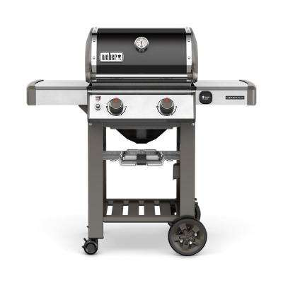 Genesis II E-210 2-Burner Natural Gas Grill in Black with Built-In Thermometer