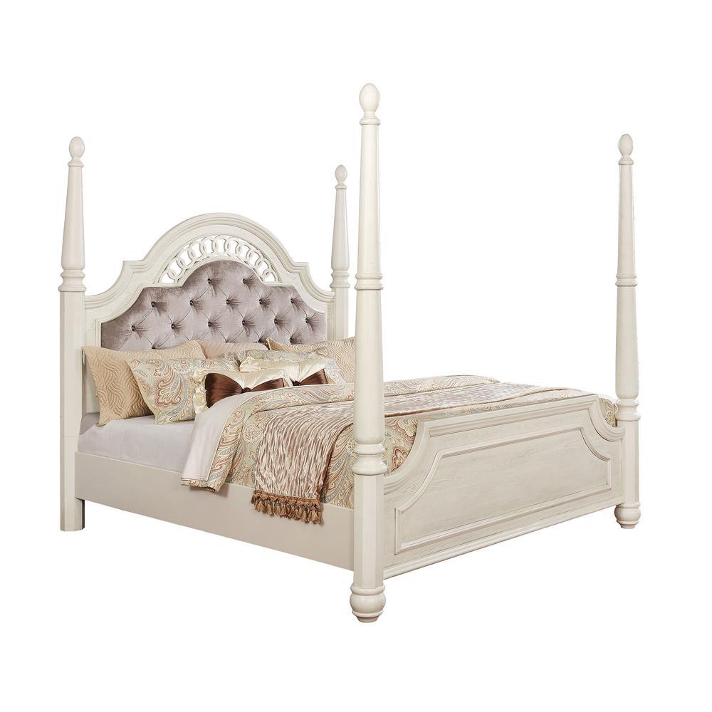 Fantasia Antique White E.King Bed