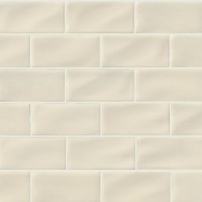 Msi Antique 3 In X 6 In Glossy Ceramic Handcrafted Beige Handmade Subway Tile 1 Sq Ft Case Pt Aw36 The Home Depot