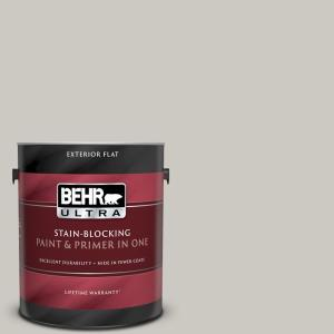 Behr Ultra 1 Gal 790c 3 Dolphin Fin Flat Exterior Paint And Primer In One 485001 The Home Depot