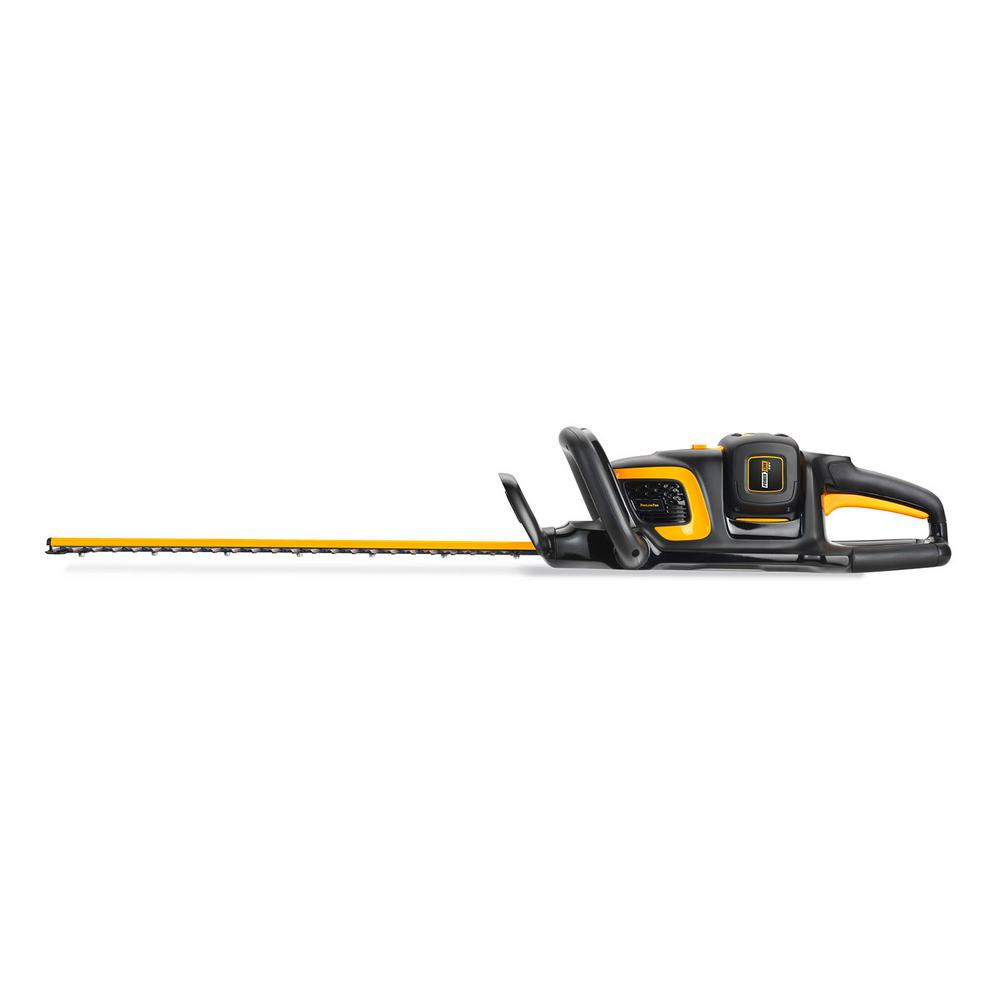 Poulan Pro PRHT22i 22 in. 58-Volt Lithium-Ion Cordless Hedge Trimmer Battery & Charger Included