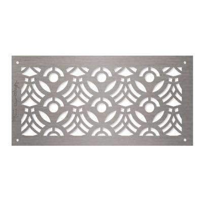 Frank Lloyd Wright Collection April Flowers Grille 6 in. x 12 in. Aluminum Brushed Satin