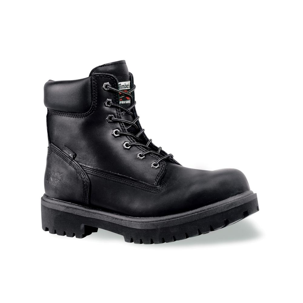 3383b69cc3d Timberland PRO Men's Work Boot 6 in. Direct Attach Black Steel Safety Toe  Insulated Size 13M