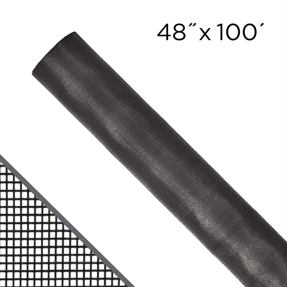 48 in. x 100 ft. Charcoal Fiberglass Window Screen