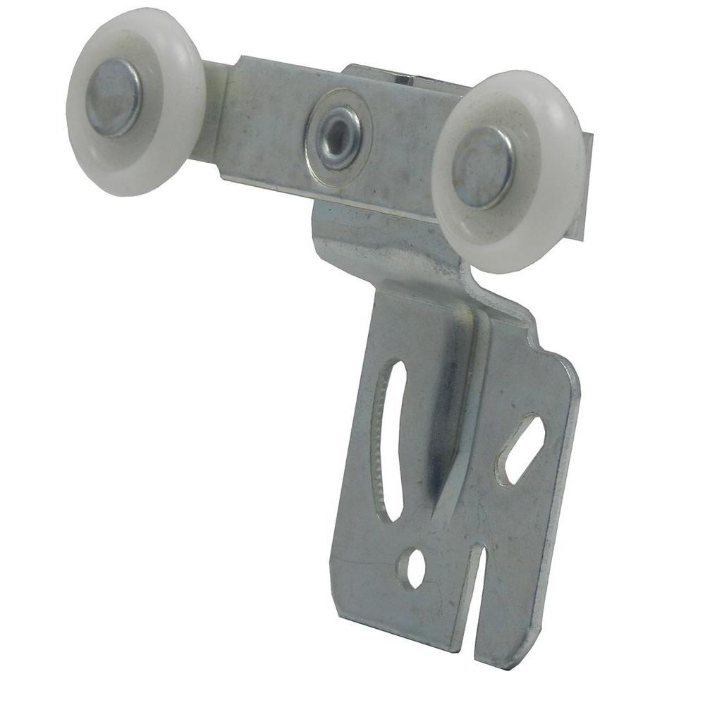 1/2 in. Offset Twin Wheel By-Pass Closet Door Hanger (2-Pack)