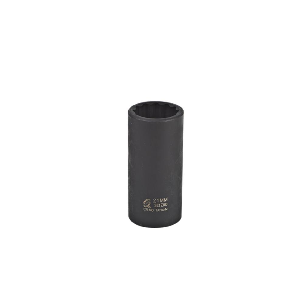 Sunex 3/8 in. Drive 21 mm DP Impact 12-Point Socket