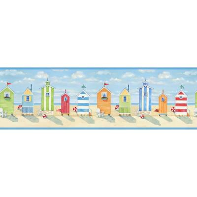 Brighton Beach Cottage Wallpaper Border