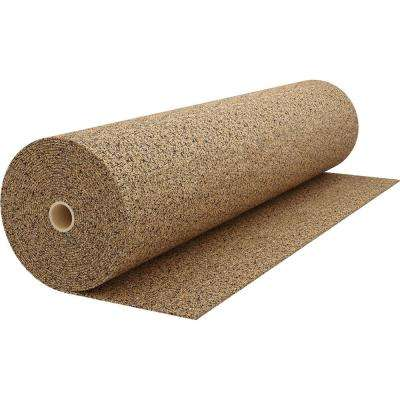 200 sq. ft. 4 ft. Wide x 50 ft. Long x 6 mm Thick Cork Plus Sound Dampening Underlayment Roll