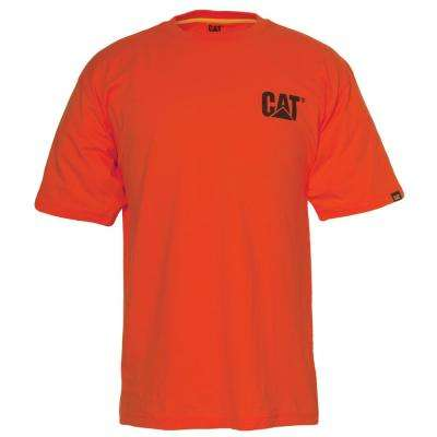 Men's Large Adobe Orange Cotton Short Sleeved T-Shirt