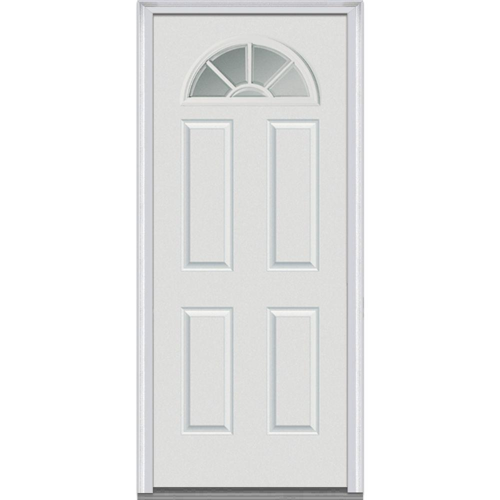 Mmi Door 36 In X 80 In Right Hand Inswing 14 Lite Clear 4 Panel