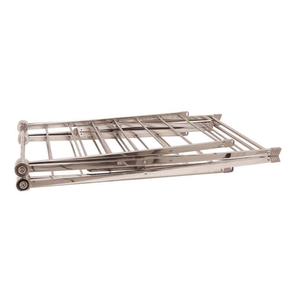 Home Products International 67 in. x 38 in. Large Heavy Duty Stainless Steel Drying Rack