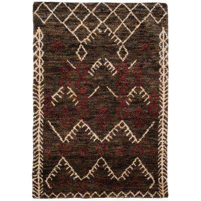 Bohemian Dark Brown/Multi 4 ft. x 6 ft. Area Rug