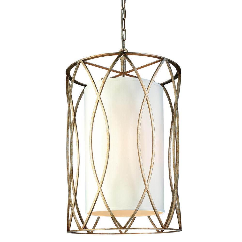Perfect Troy Lighting Sausalito 4 Light Silver Gold Pendant