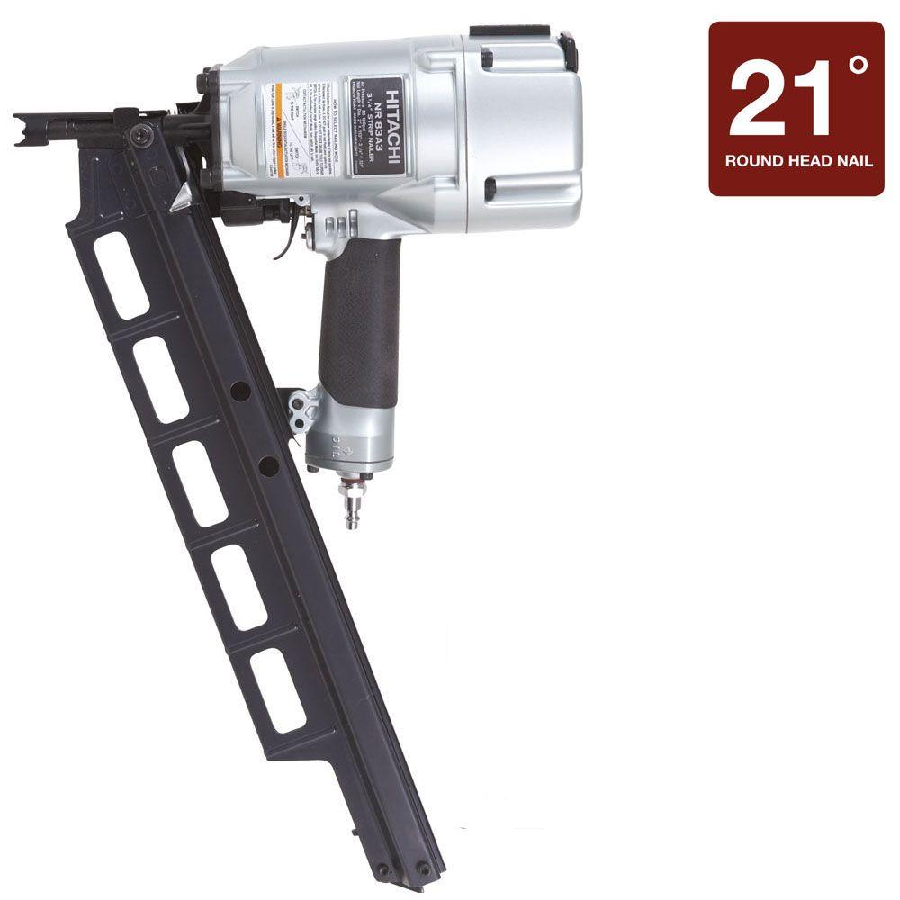 Hitachi 3-1/4 in. Plastic Collated Framing Nailer Without Depth Adjustment