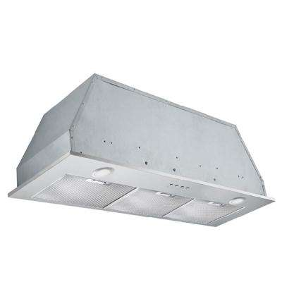 Insert Plus 36 in. Convertible Built-In Range Hood with Light in Stainless Steel