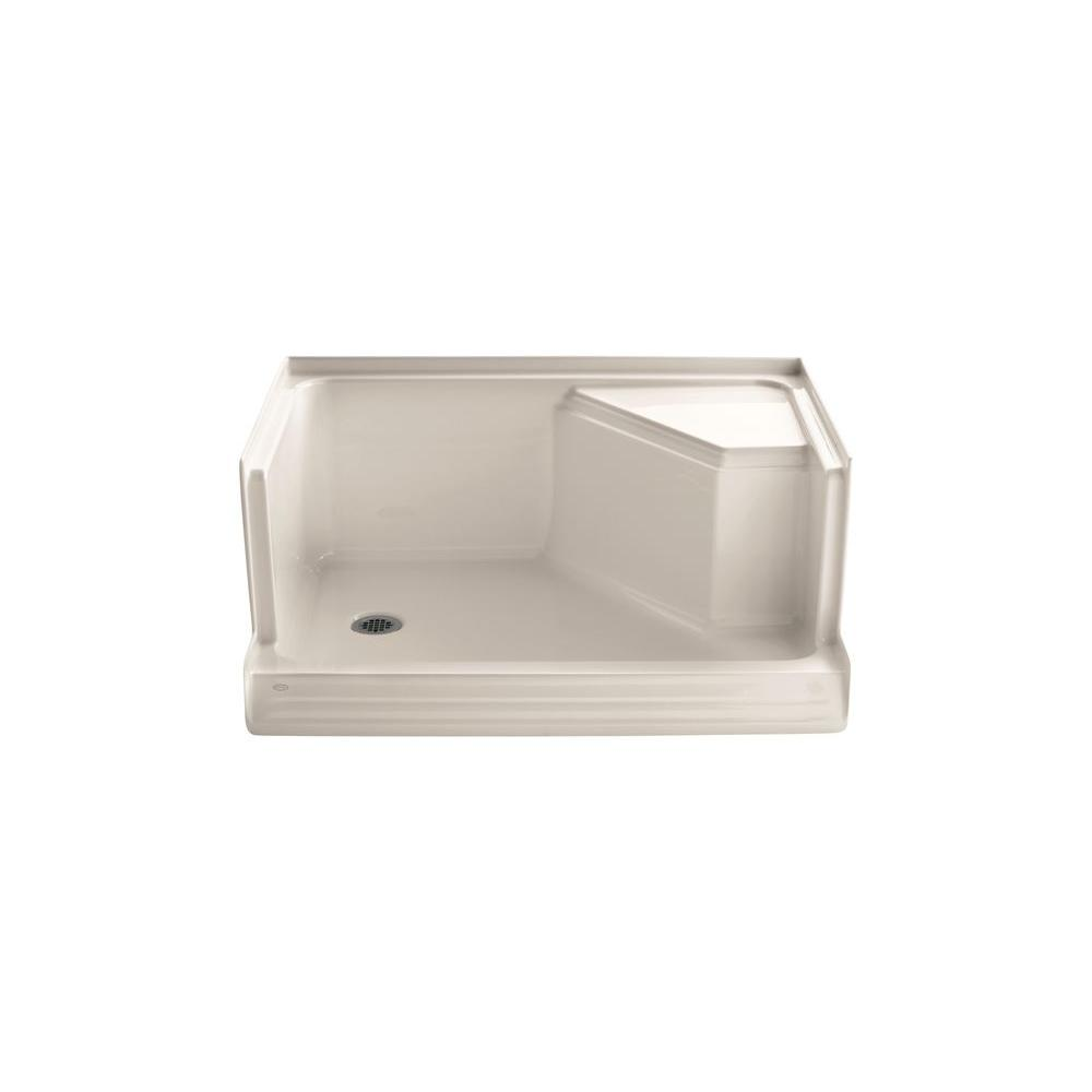 KOHLER Memoirs 48 in. x 36 in. Shower Base in Innocent Blush-DISCONTINUED