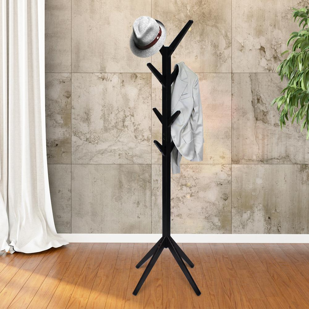 Yaotai Espresso Tree Shaped Coat Rack