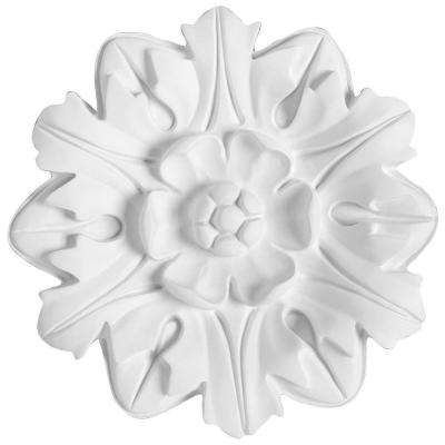 European Collection 7-7/8 in. x 13/16 in. Floral Rosette Polyurethane Ceiling Medallion