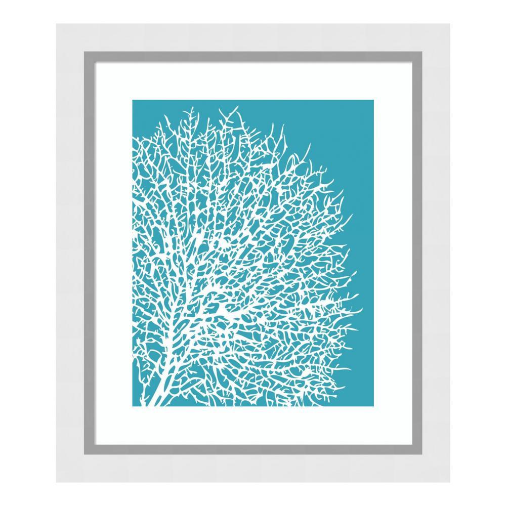 """""""Aqua Coral II"""" by Sabine Berg Framed Wall Art"""