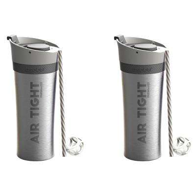 2-Piece Silver 17 oz. Fresh N Go Tumbler Set