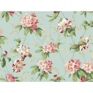 York Wallcoverings Casabella II Rhododendron Floral Wallpaper by York Wallcoverings