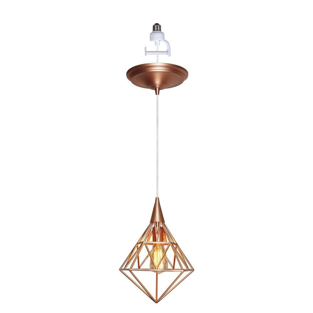 Worth Home Products Instant Pendant Series 1-Light Copper Recessed Light Conversion Kit  sc 1 st  The Home Depot & Worth Home Products Instant Pendant Series 1-Light Copper Recessed ... azcodes.com