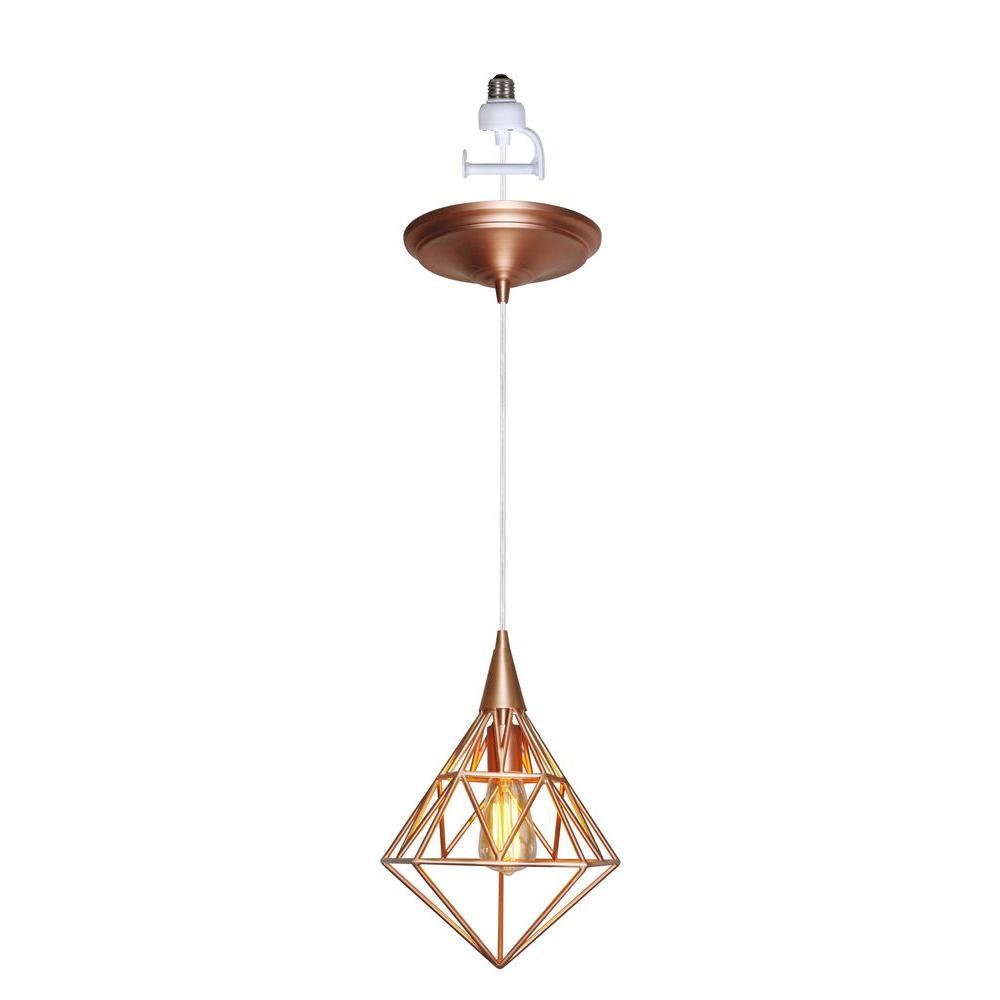 Instant Pendant Series 1-Light Copper Recessed Light Conversion Kit