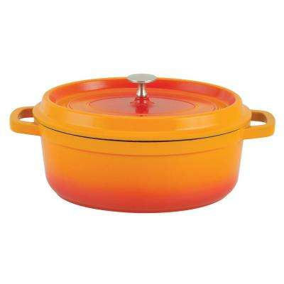 6.63 Qt. Orange Oval Aluminum Dutch Oven