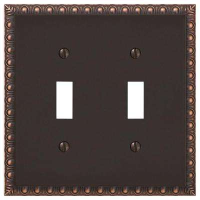 Antiquity 2 Toggle Wall Plate - Aged Bronze Cast