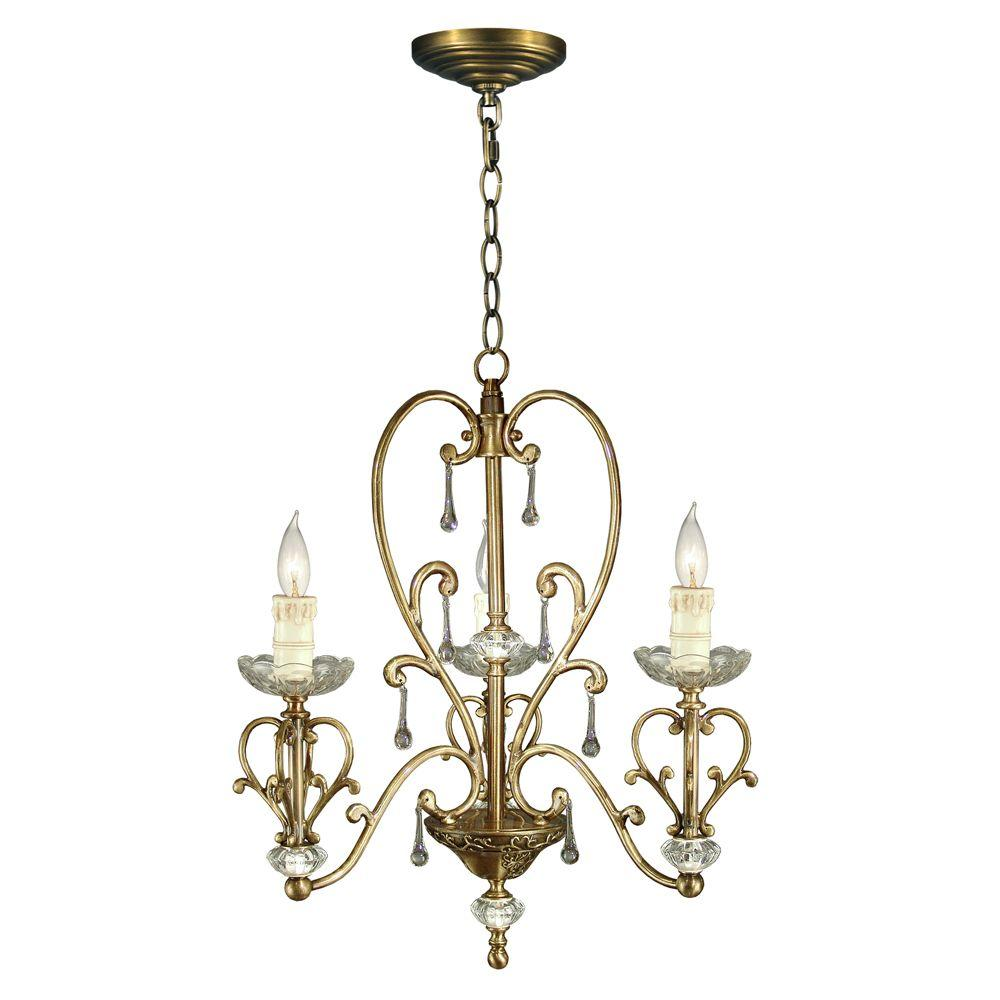 Dale Tiffany 3-Light Ashbee Chandelier-DISCONTINUED
