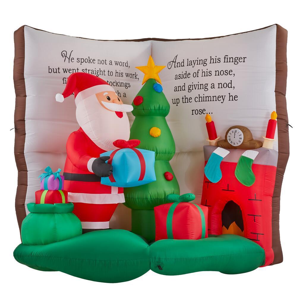 6.56 ft. Inflatable Santa in Story Book Scene